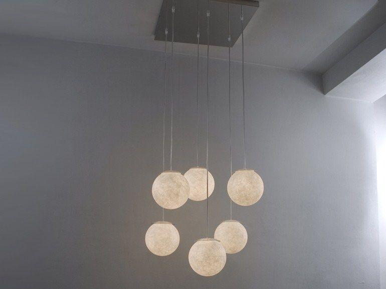Nebulite® pendant lamp SEI LUNE Luna Collection by In-es.artdesign