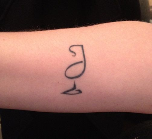 Slide show drinks ink 14 cocktail beer and wine for Small cocktail tattoos
