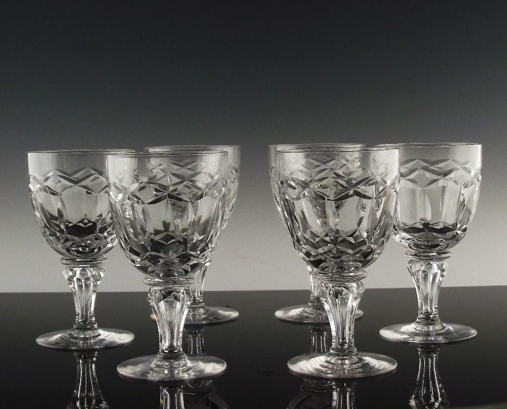 Regal Wine Glasses By Maastricht Aka Royal Leerdam Ca 1948 53 Glass Bar Vintage Crystal Wine Glasses
