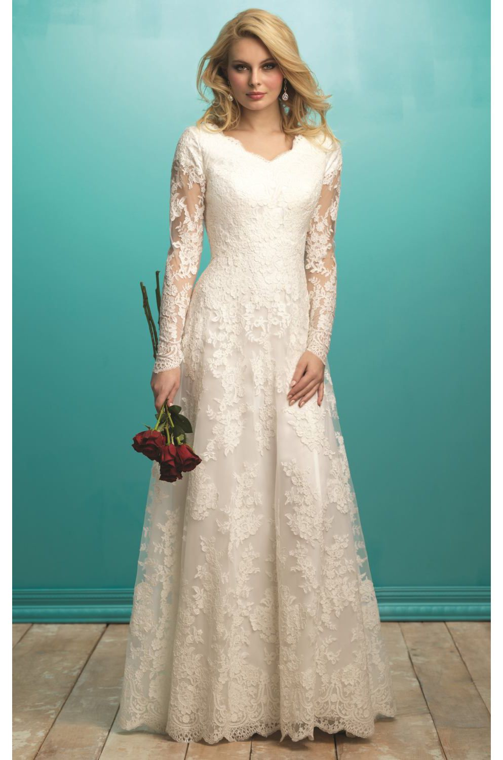 Lace Full Sleeved Gown www.findress.com | Wedding dress | Pinterest ...