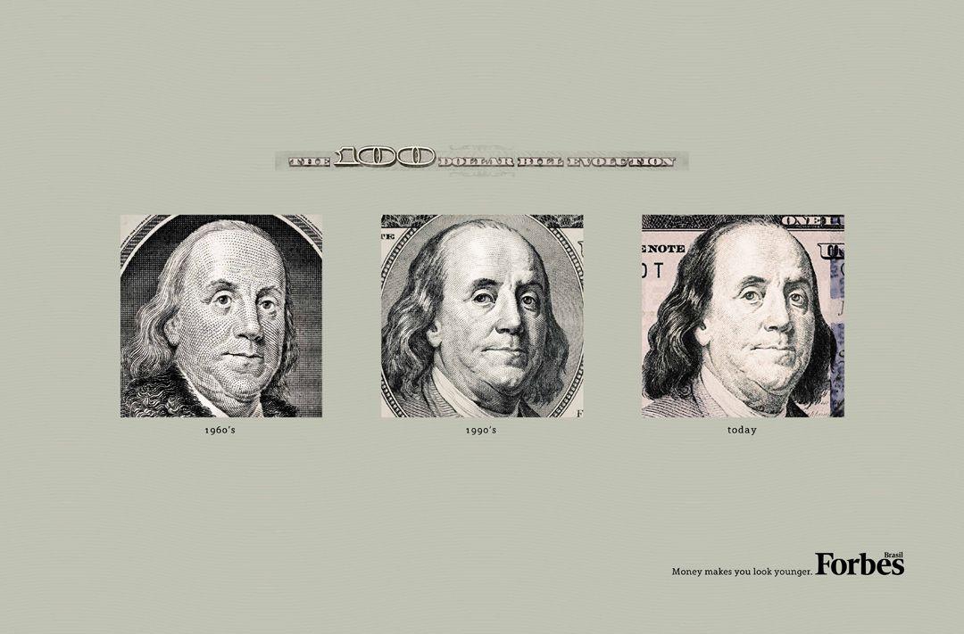 Forbes Magazine: The Evolution of the Dollar Bills, Ogilvy Brasil