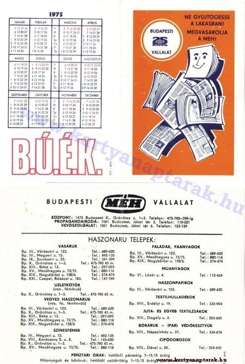1975 - 1975_0116 - Régi magyar kártyanaptárak