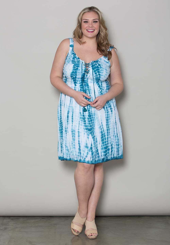 Lana Tie Dye Dress Blue Womens Plus Size Clothing Melbourne