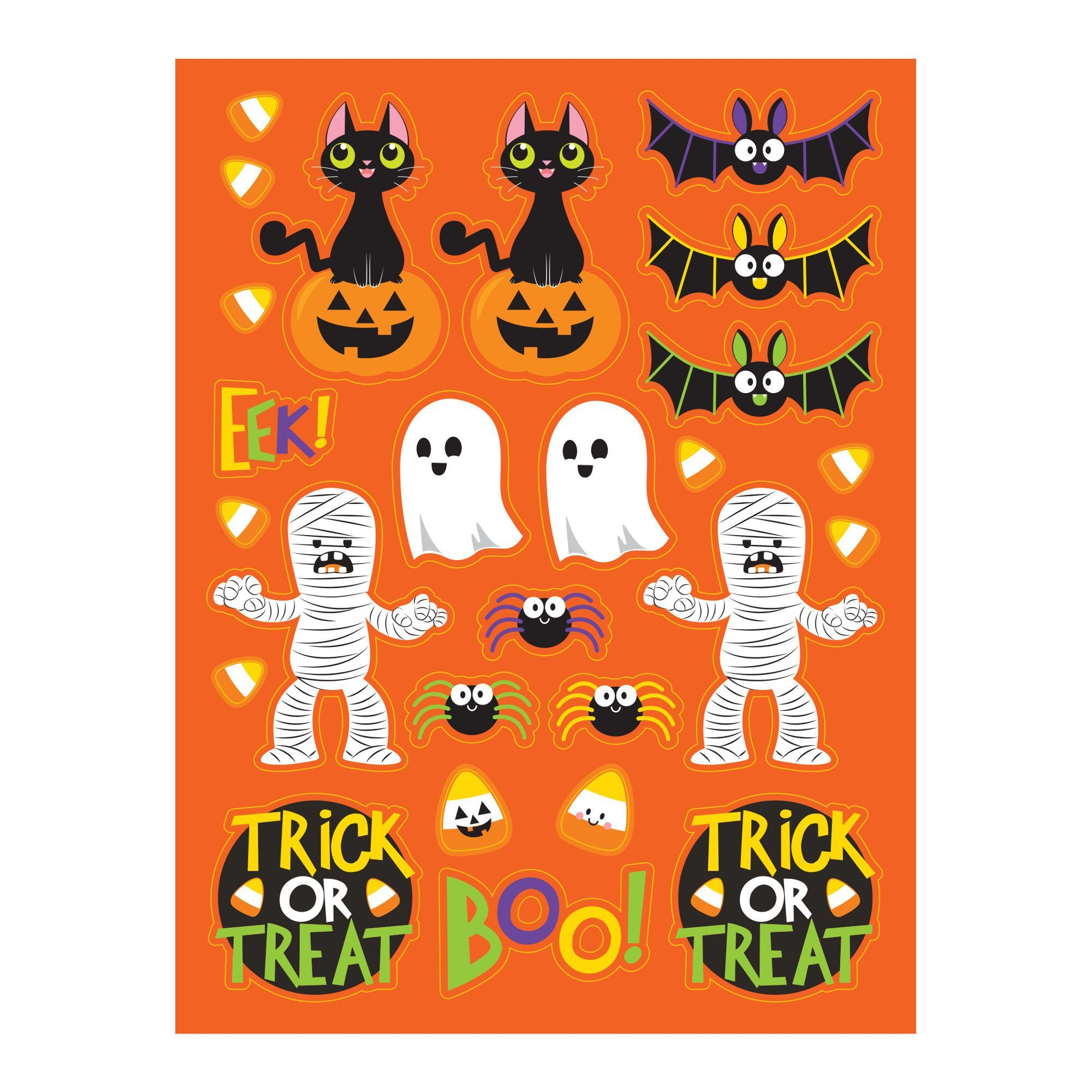 Spooky Friends Value Stickers/Case of 48 · Halloween Party IdeasBulk ...
