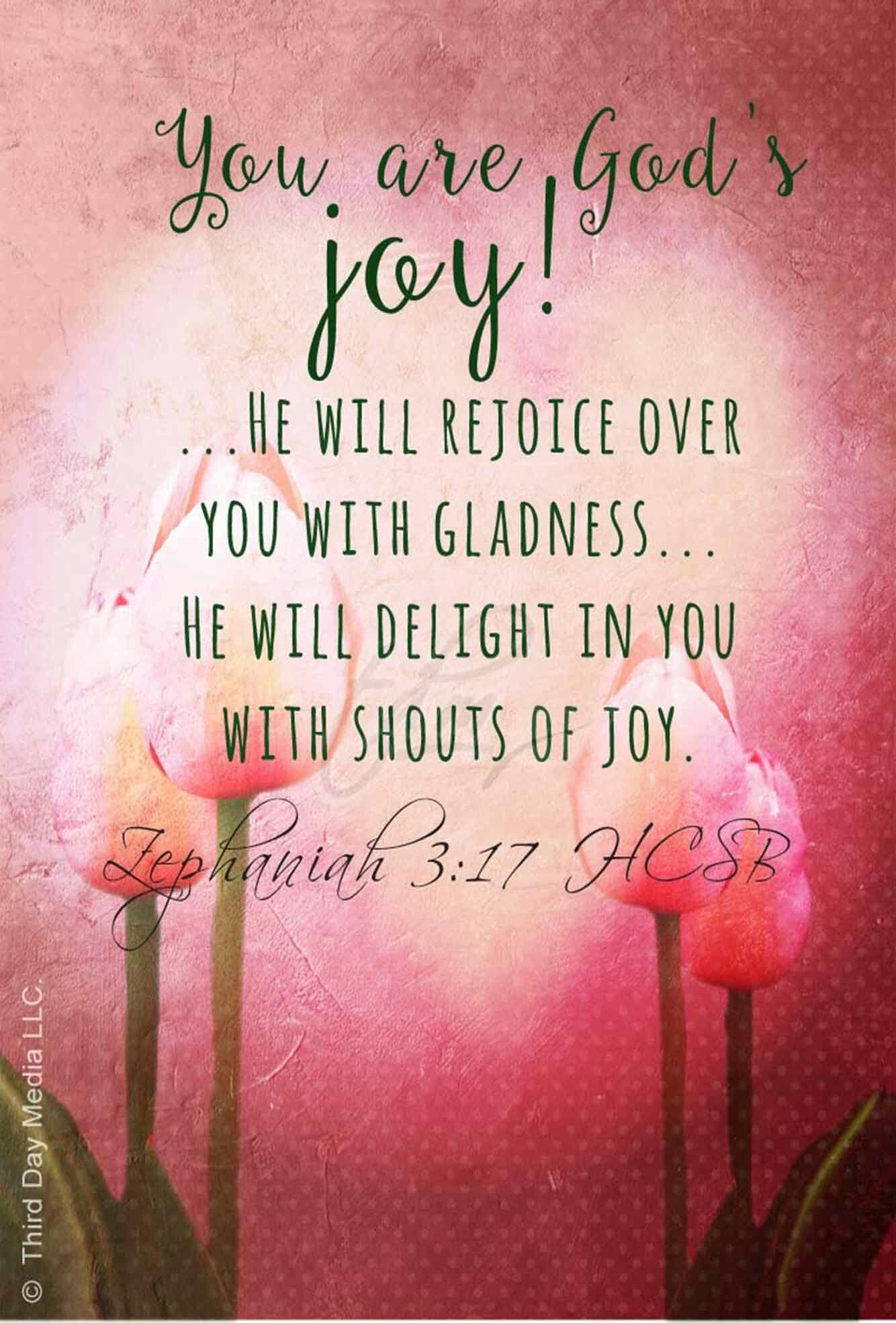 Small Crop Of Scriptures On Joy