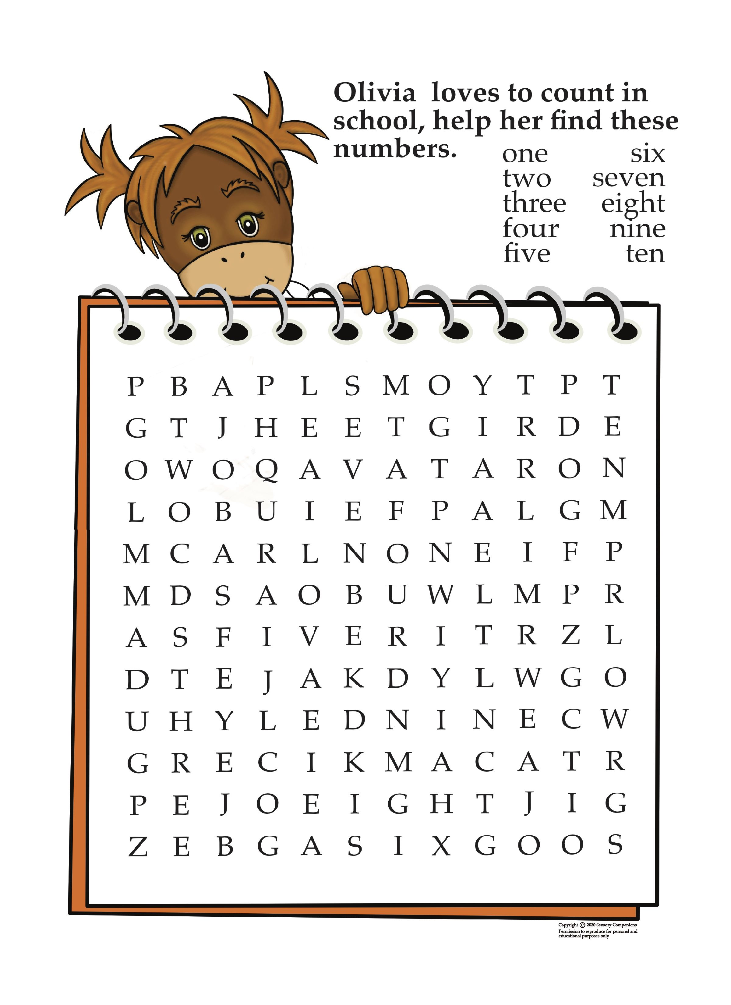Orangutan Word Search In