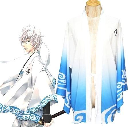 Free Shipping  30 days Easy Return Gintama Silver Soul Gintoki Sakata Summer Kimono Anime Cosplay Costume