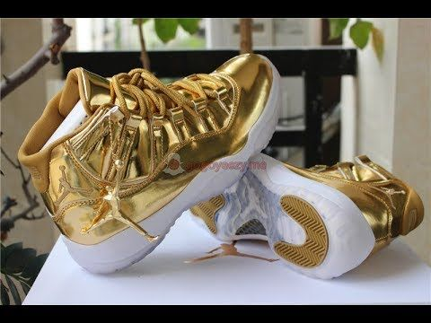 premium selection 4c717 e2c6f Early Review! Air Jordan 11 Retro Pinnacle Gold - gogoyeezy ...