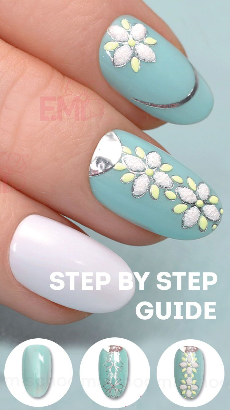 Do D flowers on nails with our step by step nail art guide with