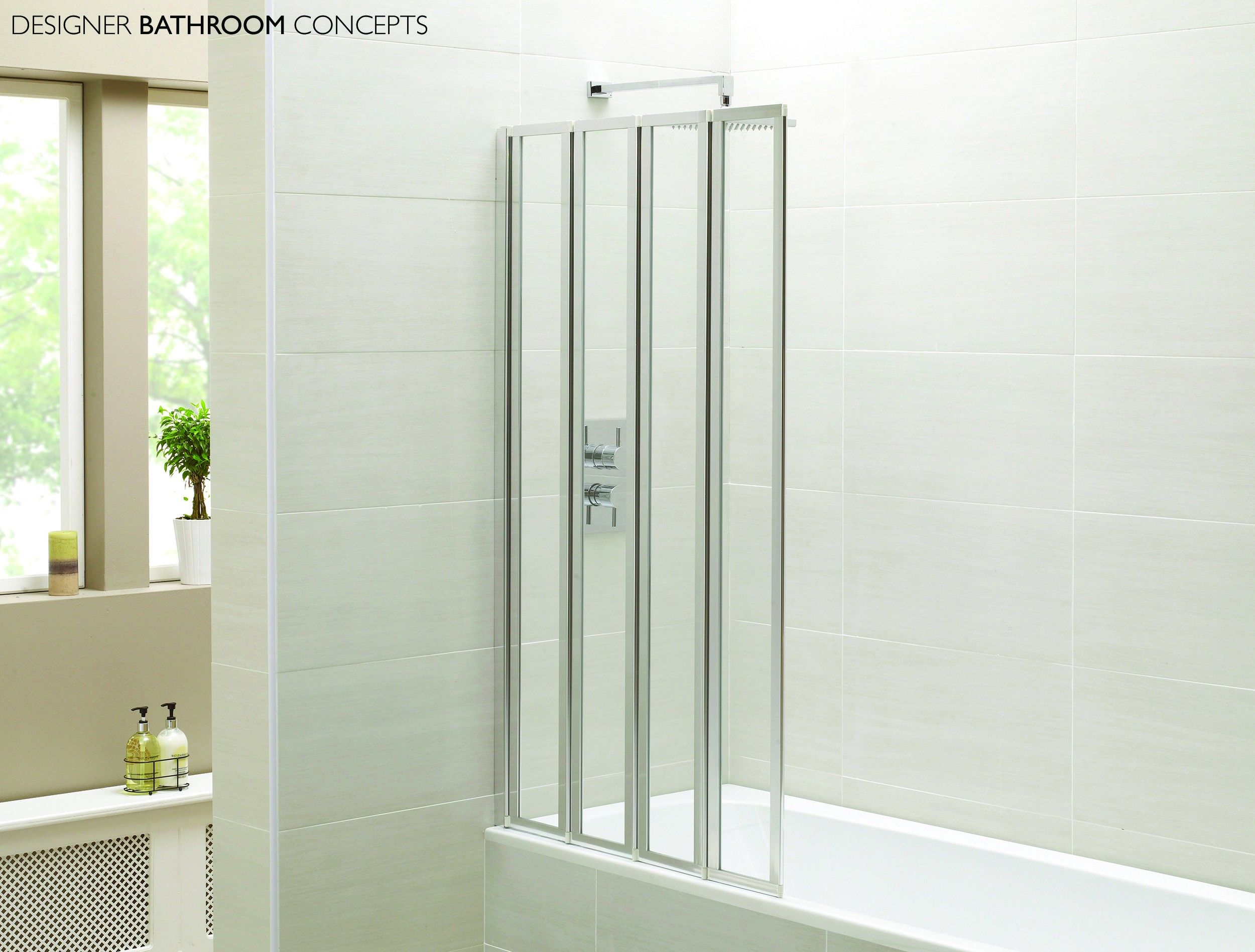 The Designer Folding Shower Screen from the