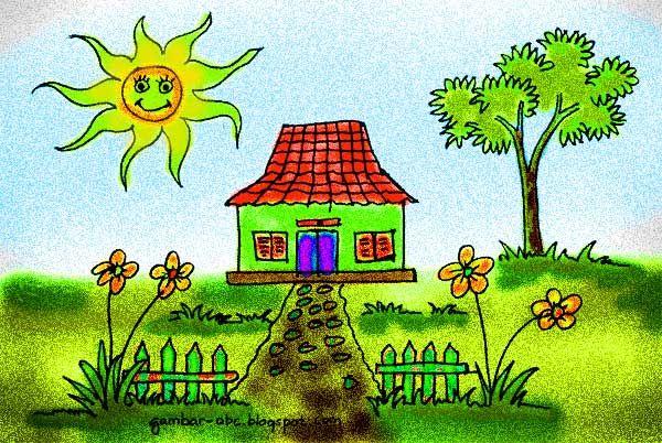 Contoh Mewarnai Rumah Www Gambar Mewarnai Com Gambar Pemandangan Warna