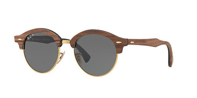 672108306e4e9 Boots Women. Sunglasses. Lentils. Ray-Ban Polarized RB4246M 51 CLUBROUND  WOOD Sunglasses