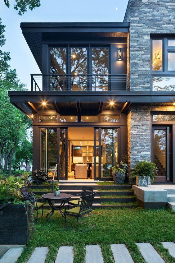 Modern Organic Home By John Kraemer Sons In Minneapolis Usa: Style At Home, Haus Außendesign Und Moderne Hausentwürfe