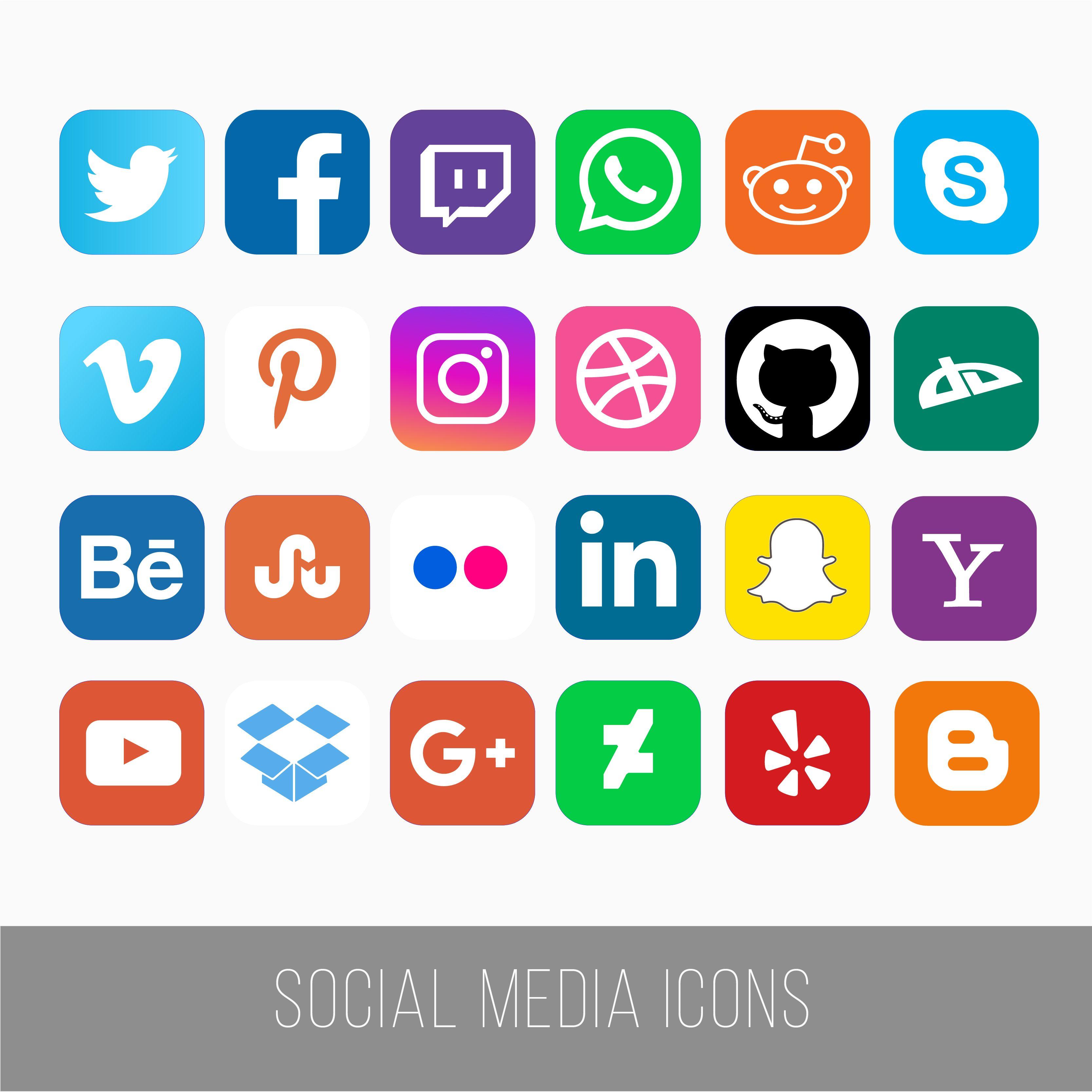 Social Media Icons Social media icons, Media icon