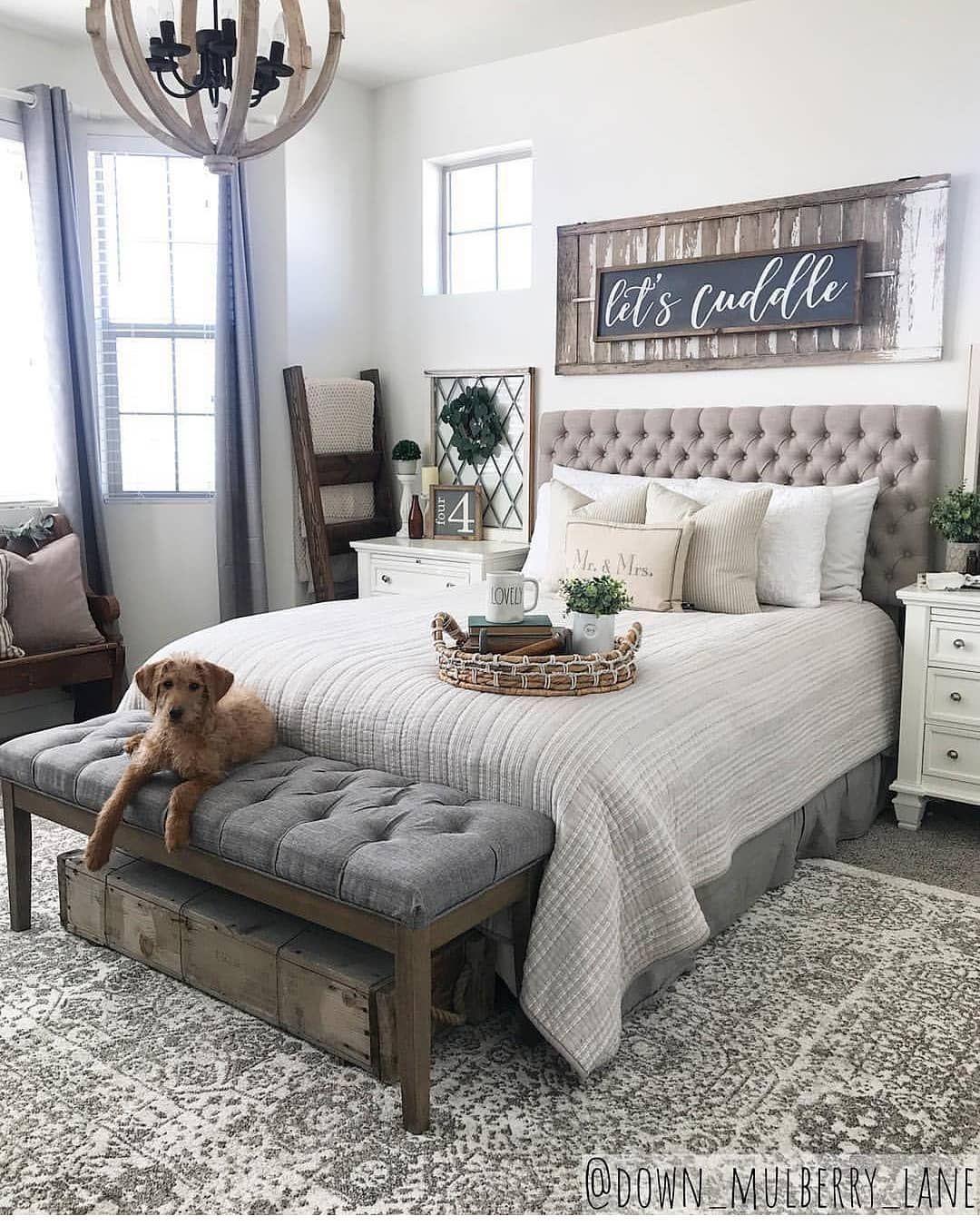42 Farmhouse Rustic Master Bedroom Ideas Rustic Master Bedroom