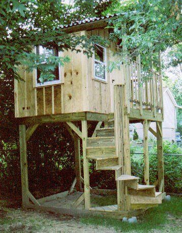Kidsafeplayhouses a treehouse without the tree for Tree house blueprint maker