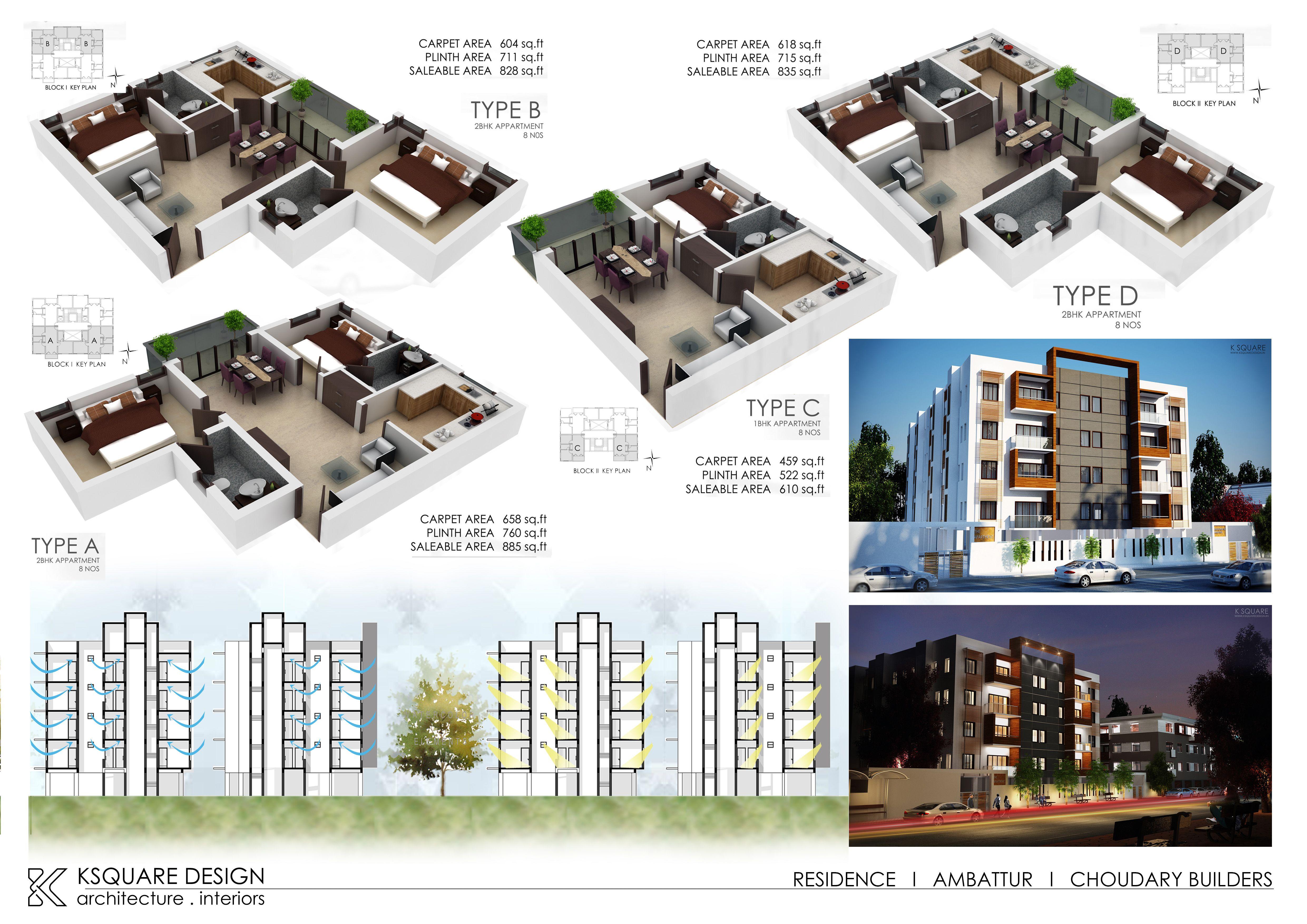 Multi Dwelling Unit For Choudary Builders Ambattur Chennai Designed By K Square Architects Interior 91 9677099960 Www Ksqu Architect Design The Unit