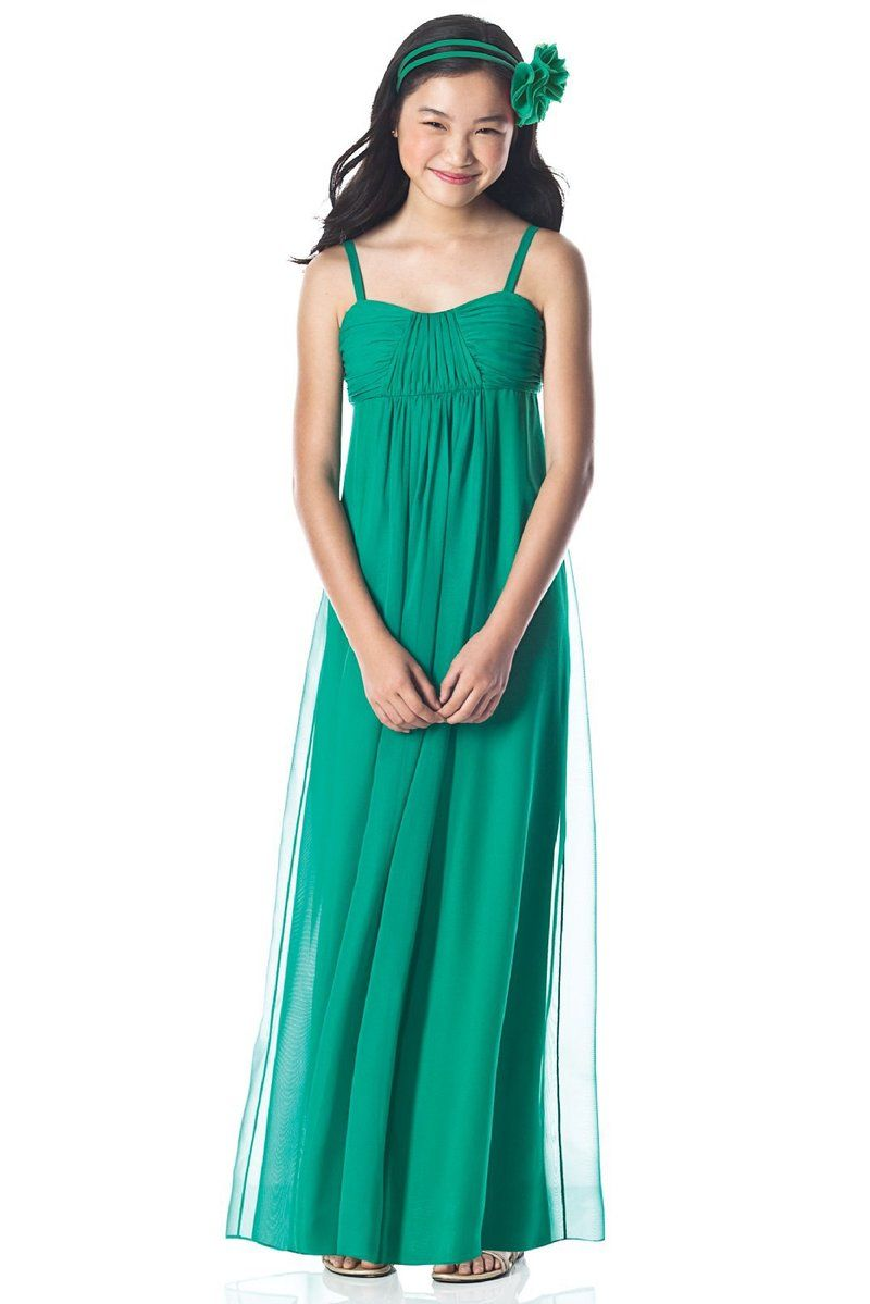Hunt green empire waistline chiffon tulle junior bridesmaid dress hunt green empire waistline chiffon tulle junior bridesmaid dress dressfame ombrellifo Image collections