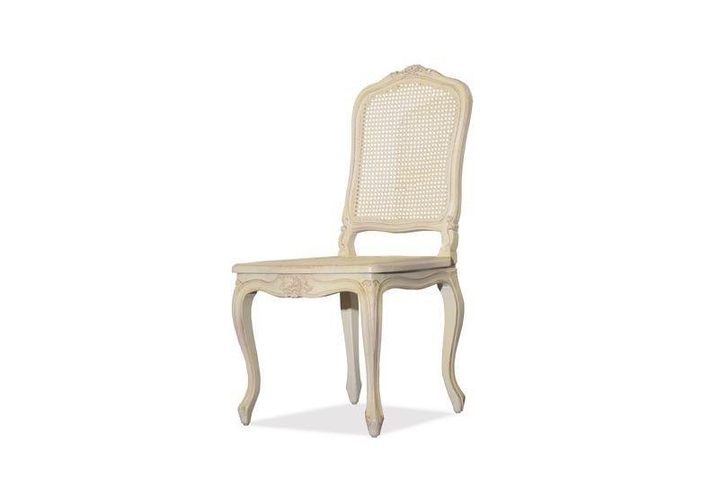 Esstischstuhl Weiß stuhl vintage birke massiv antik look weiß lackiert vintage