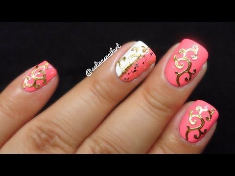 Green nail · Pink & Gold ... - Pink & Gold Nail Art Born Pretty Store Review Nail Designs