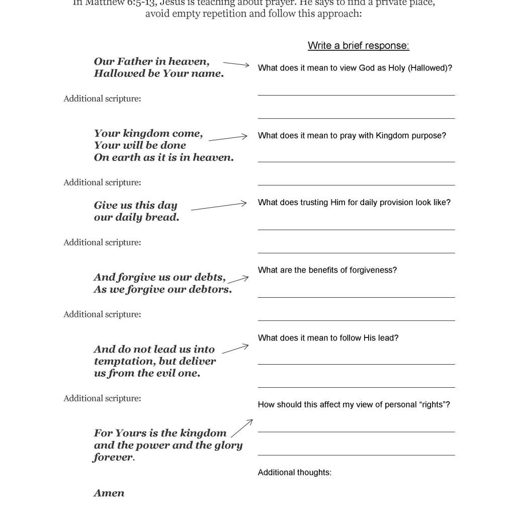 Free Printable Bible Study Worksheets In