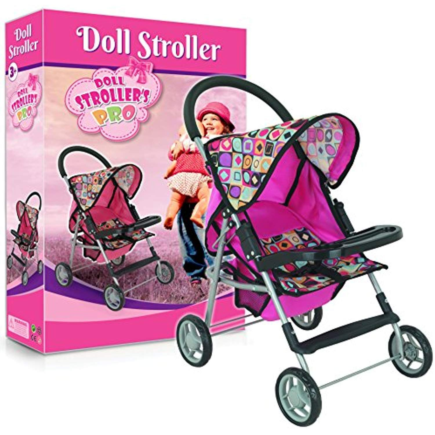 My First Doll Stroller Super Cute with front table and