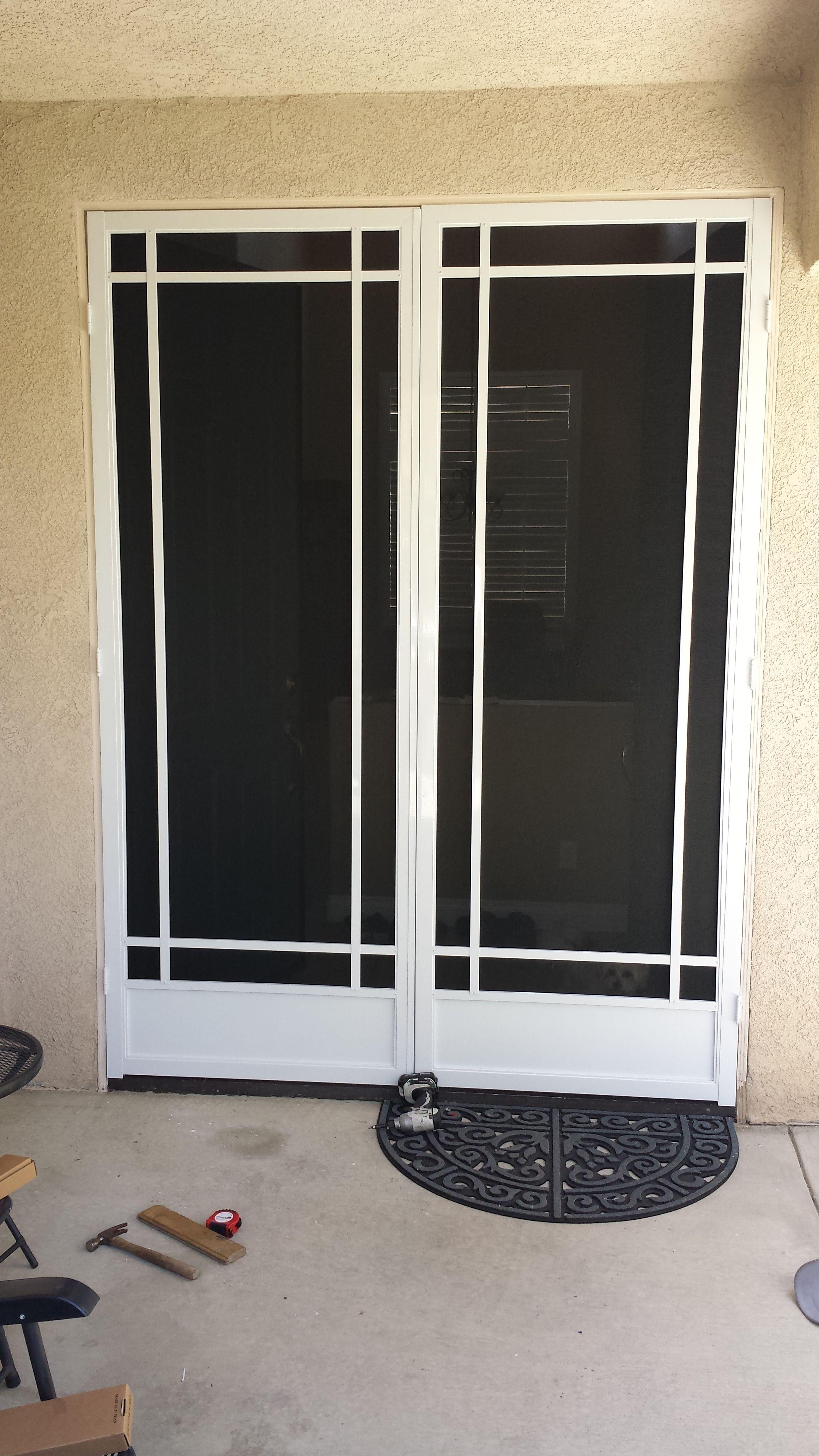 Prairie French Door With Pet Screen Screenmobile Of Santa Clarita
