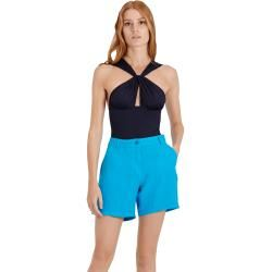 Photo of Damen Ready to Wear – Solid Bermudashorts aus Leinen für Damen – Bermuda – Leslie – Blau – Xxs – Vil