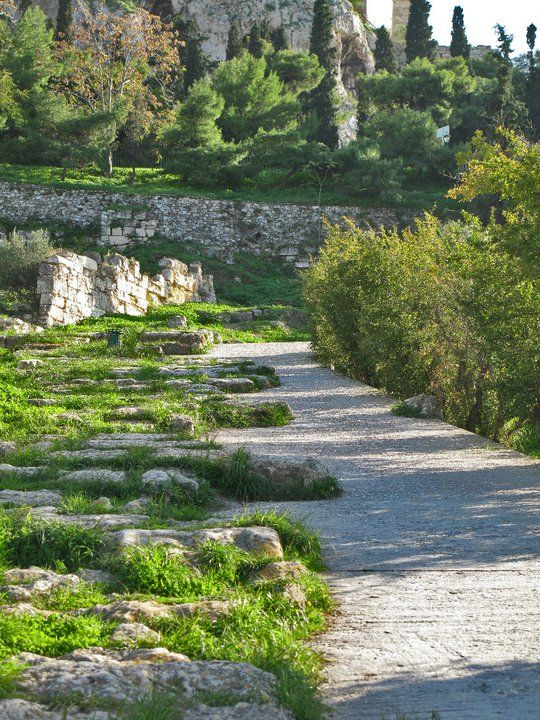 Panathenaic Way Ancient Agora Of Athens Greece Ancient Greece