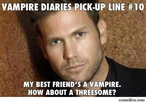 Vampire pick up lines