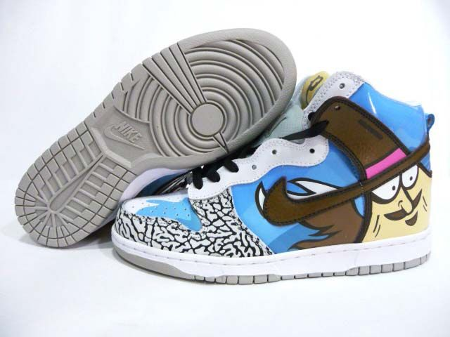 Nike Dunk High Womens Custom Womens Flickr Faces Laces Exhibition Blue bffe8be2a