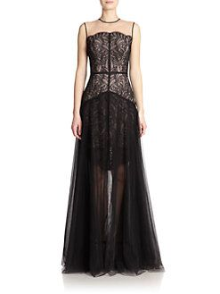 NHA KHANH - Audree Lace & Tulle Layered Gown