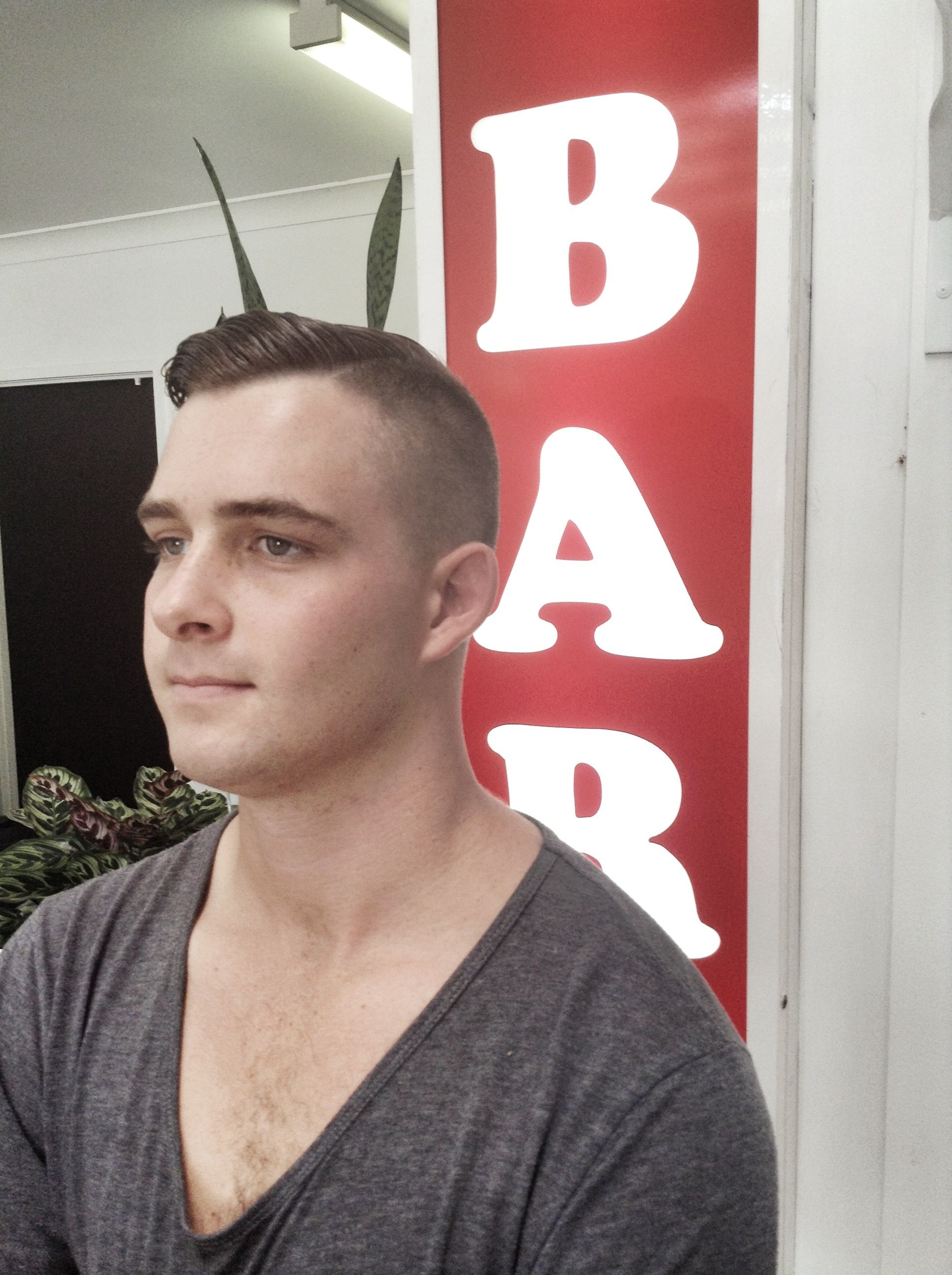 High And Tight Style Haircut Barber Shop Has Been Flat Out You