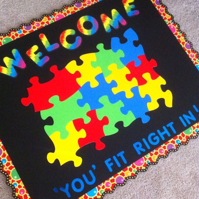 Classroom Welcome Sign: each student's name can go on one puzzle piece