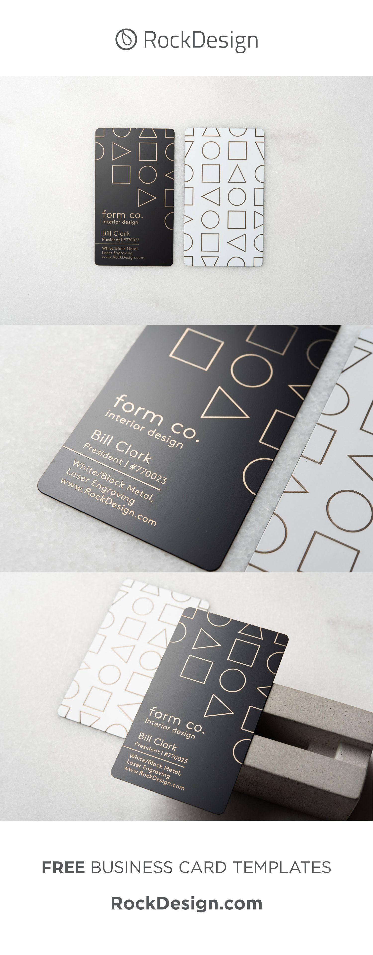 Minimalist Interior Design Business Card Template Design Form Co Metal Business Cards Interior Designer Business Card Visiting Card Design