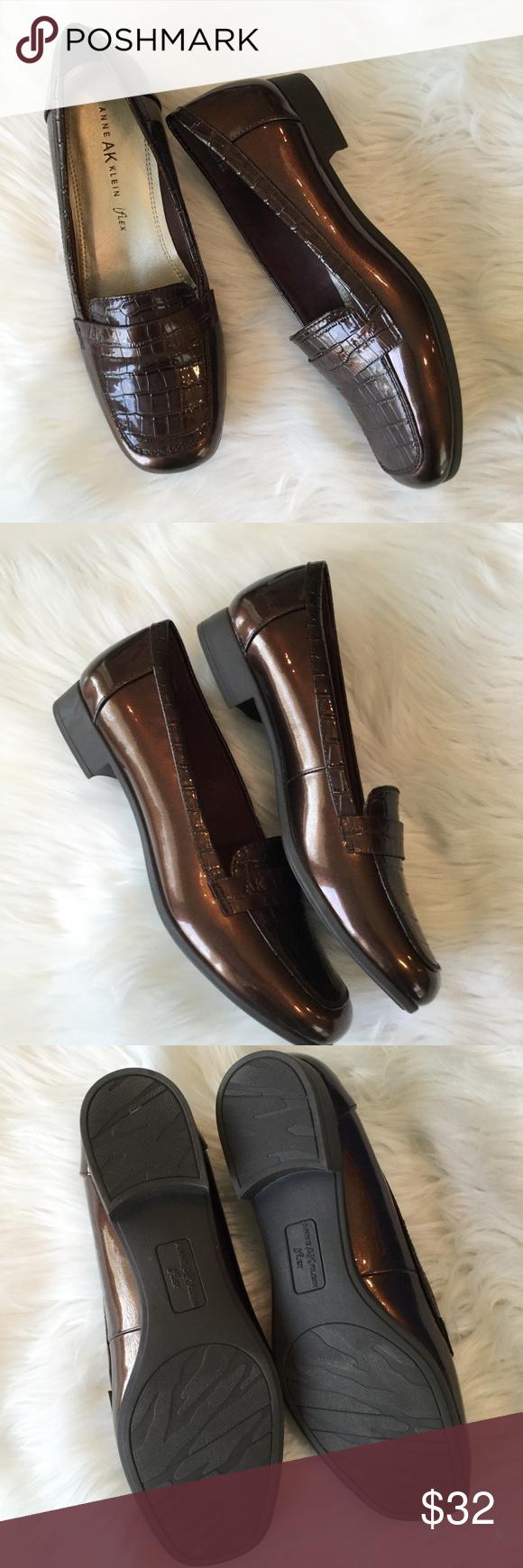 04cf953cdb1 Ann Klein Iflex Patent   Croc Loafers