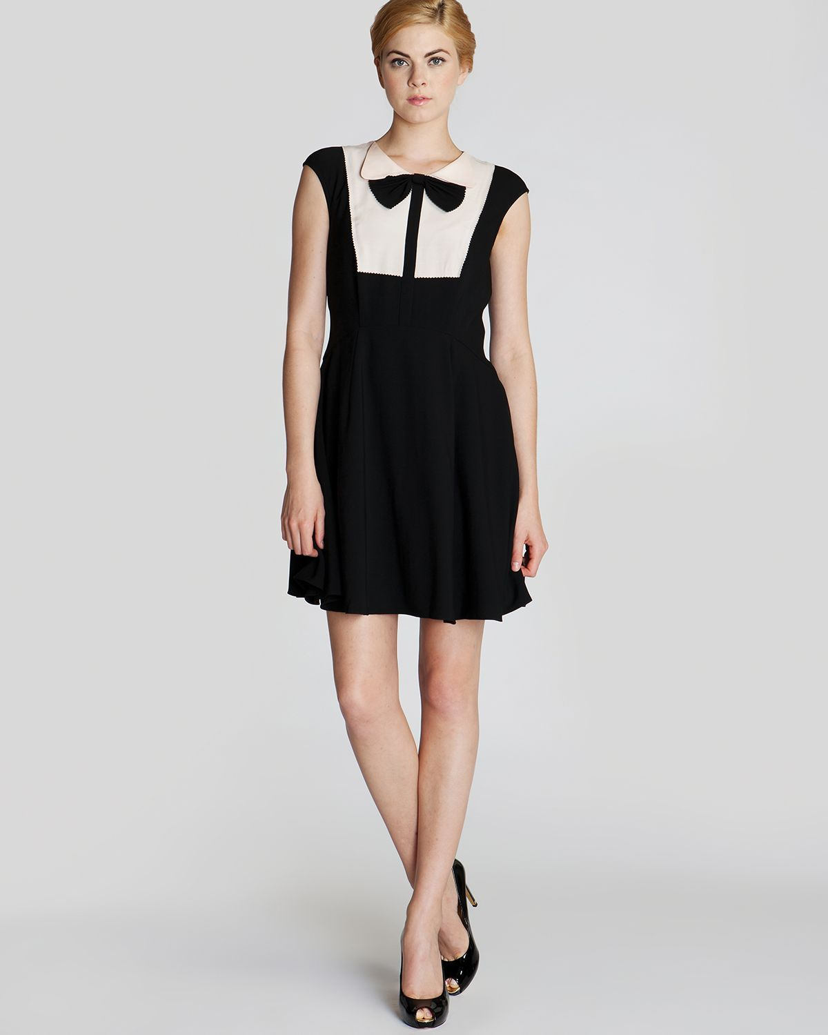 ebd9a6b755 Ted Baker Dress Nitcha Bow Collar in White (Black)
