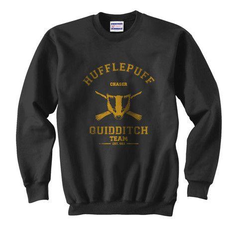 Hufflepuff Quidditch team CHASER Unisex Crewneck Sweatshirt - Meh. Geek
