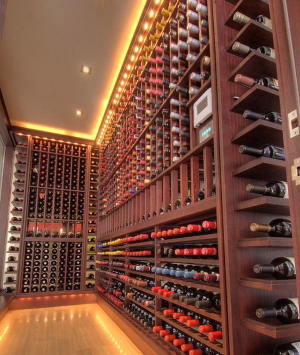 Bottom Row Led Effect Weinkeller Design Weinkeller Weinlagerung
