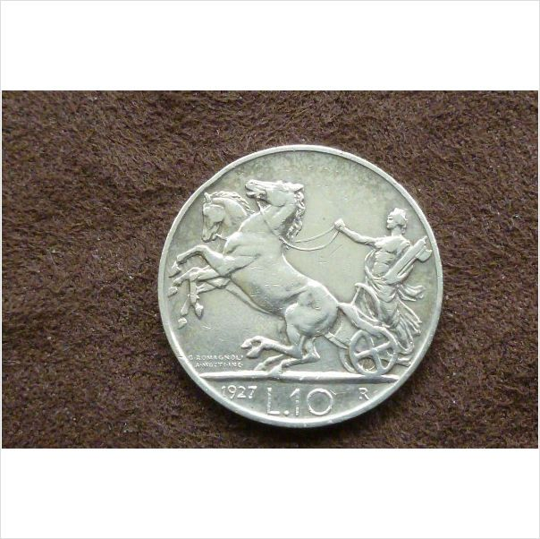 1927R Italian Vittorio Emanuele III 10 Lire Silver coin on eBid United Kingdom