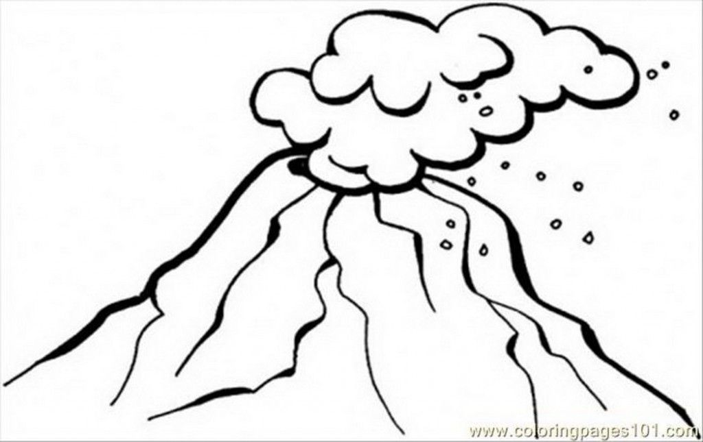 Coloring Pages Dangerous Volcano Natural World Disaster Free Coloring Pages Drawings Art