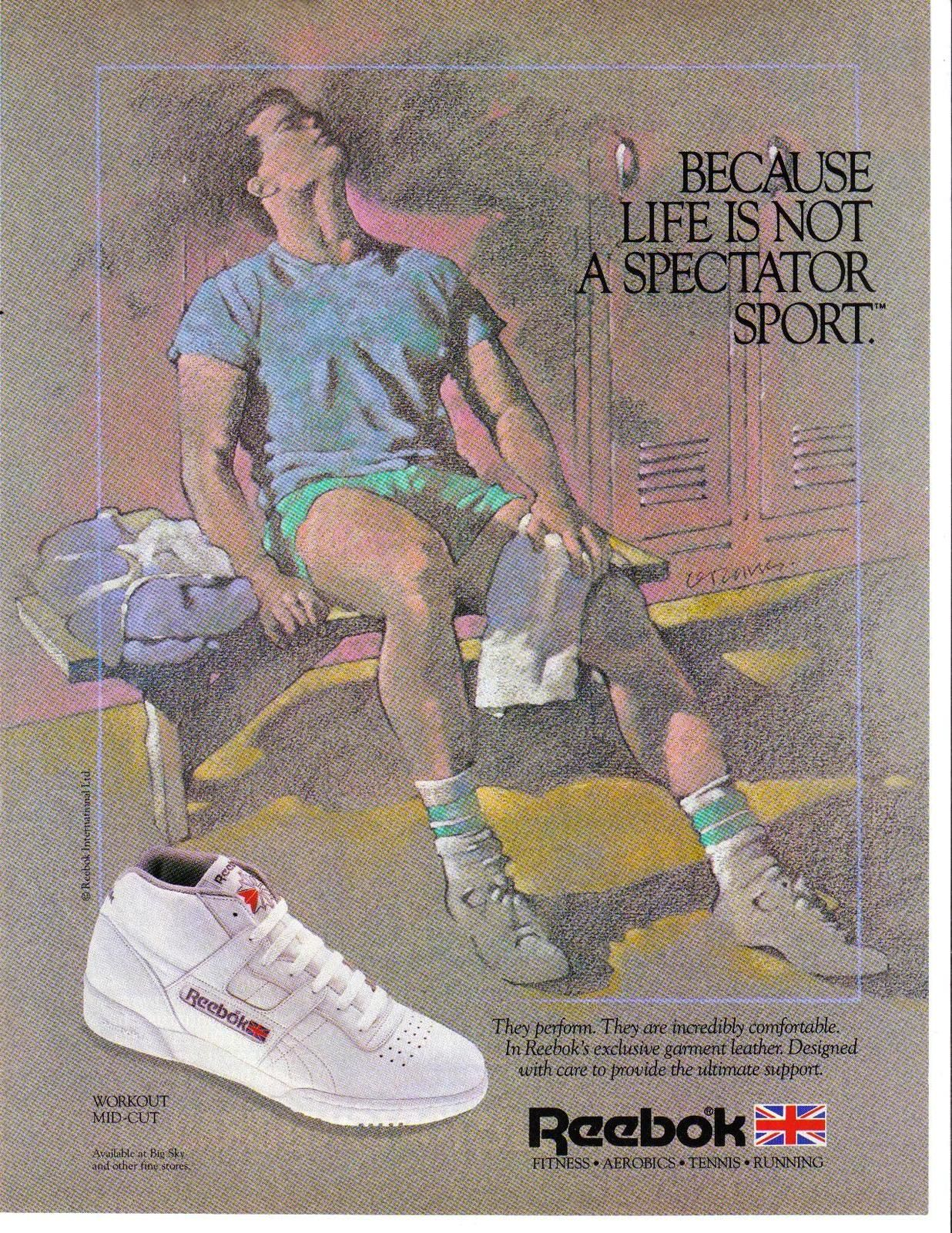 1985 Reebok Magazine Print Ad Because Life Is Not A ...