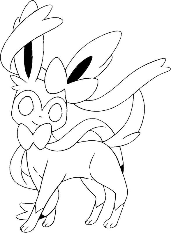 Sylveon Pokemon Coloring Pages Pokemon Coloring Pages Pokemon Coloring Animal Coloring Pages