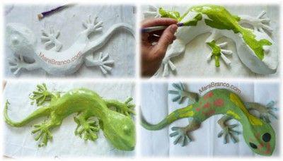 Paper Mache Gecko tutorial