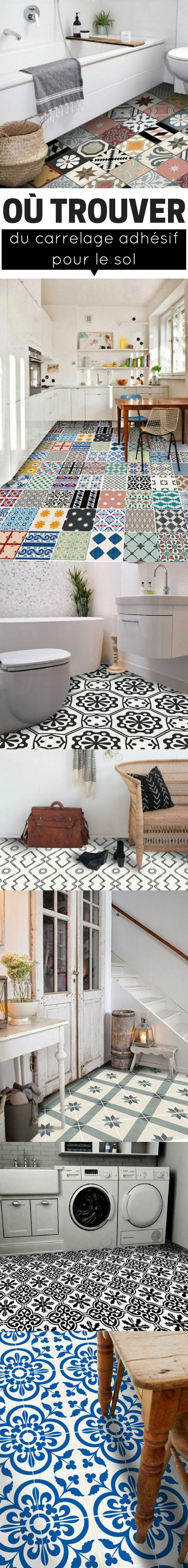 o trouver du carrelage adh sif pour le sol couloir et. Black Bedroom Furniture Sets. Home Design Ideas