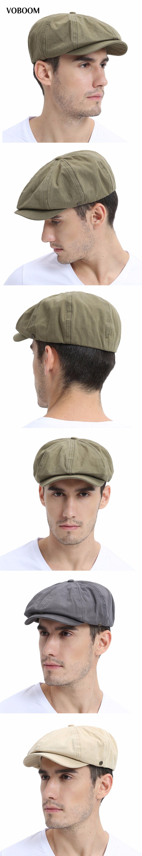 VOBOOM Summer Newsboy Cap Men Women Eight-panel Hat Cotton Baker Boy Caps  Retro Apple a0acf57c98c
