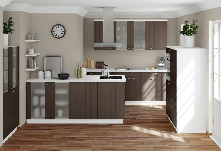 Küche in Braun #Kücheninsel #Designerküche www.dyk360-kuechen.de ...
