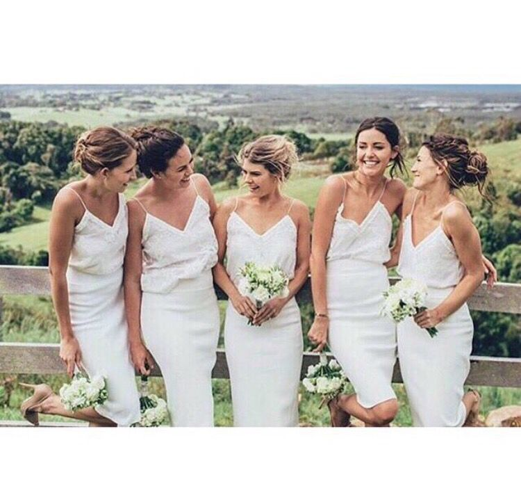 Short Bridesmaid Dresses White Dress Straps From Lovebridal