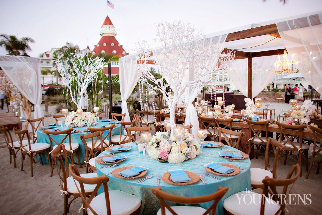 Beachside Reception Details At Hotel Del Coronado Wedding Part Two Photography By The Youngrens