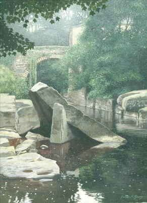 images of original paintings by james mcgairy, gouache, acrylic, river esk
